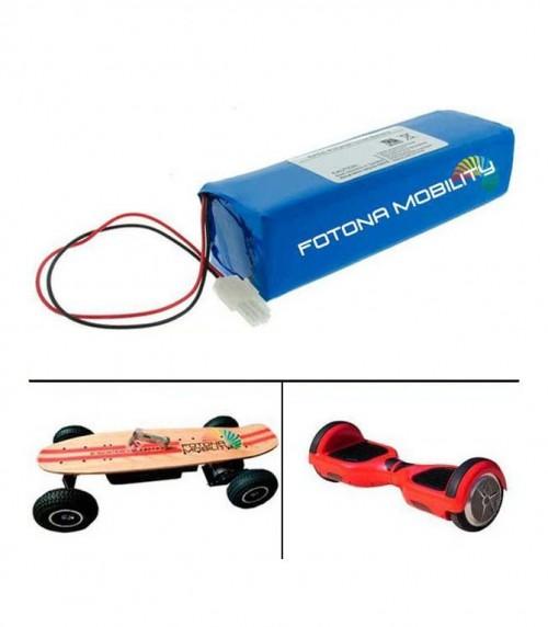 Baterias de iões de lítio para skate eléctrico
