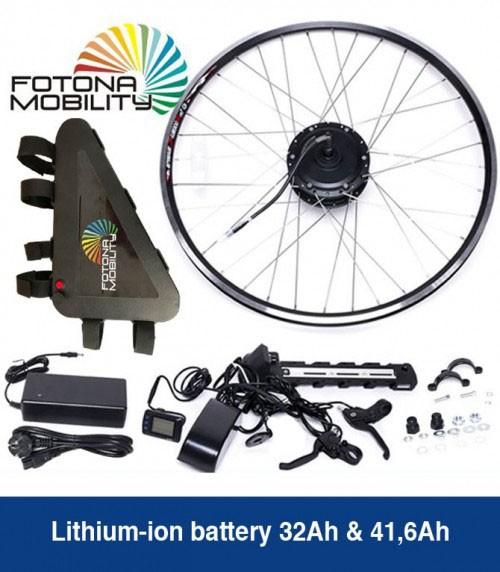 Kit de bicicleta de montanha 250W de autonomia grande