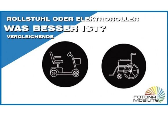 Rollstuhl oder Elektroroller. Was besser ist?