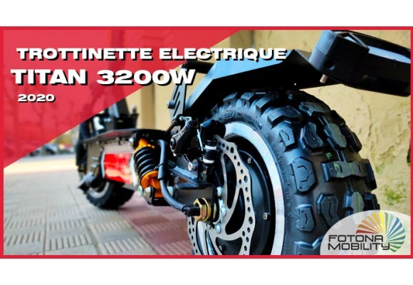 TITAN 3200W Le Trottinete Électrique le Plus Puissant.