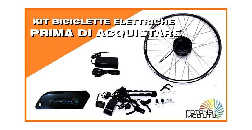 Cose che dovreste sapere prima di acquistare un Kit Elettrico per Bicicletta.