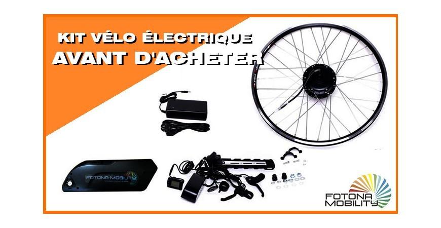 Ce que vous devez savoir avant d'acheter un Kit Électrique Vélo.