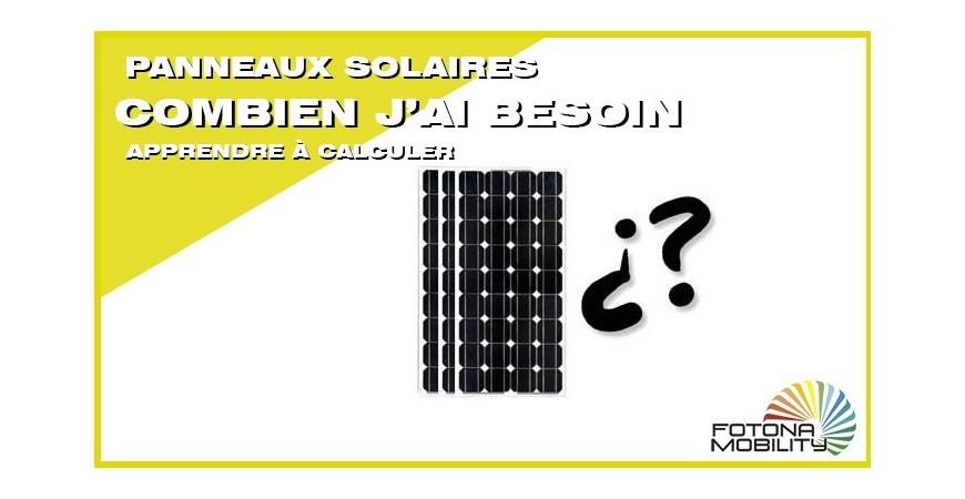 Combien panneaux solaires pour une maison ?
