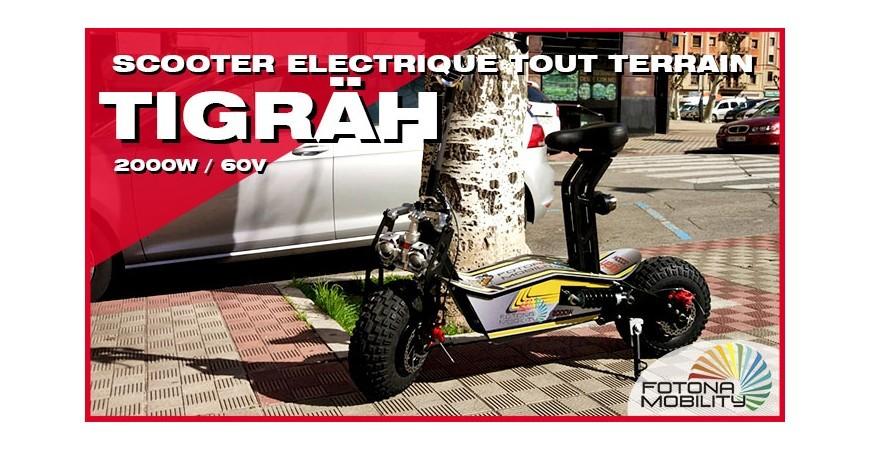 Scooter Tout-Terrain Électrique à Grandes Roues