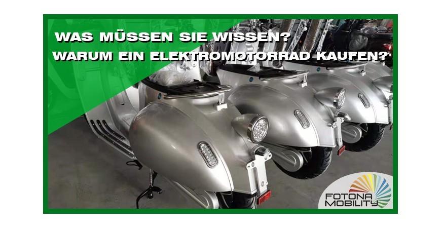 Warum ein Elektromotorrad kaufen? Was müssen Sie wissen?