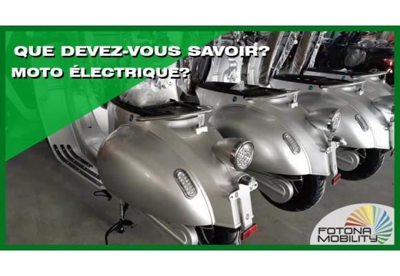 Pourquoi acheter une moto électrique ? Que devez-vous savoir ?