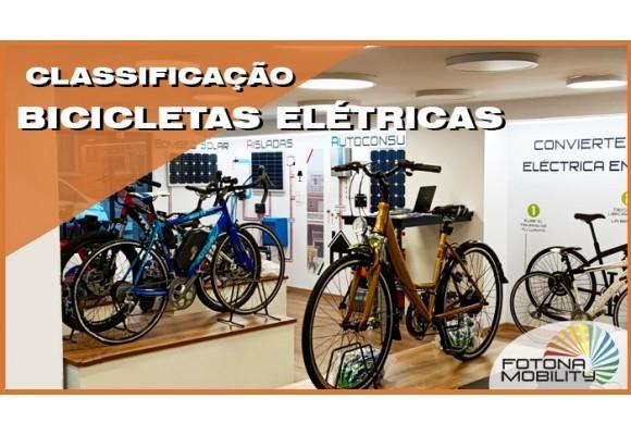 Tipos de bicicletas elétricas.