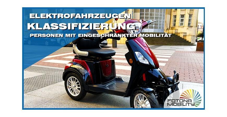 Klassifizierung von Elektrofahrzeugen für Personen mit eingeschränkter Mobilität